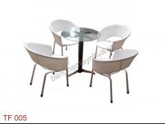 bàn ghế cafe TF 005