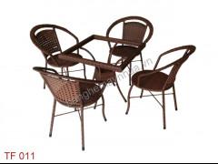 Bàn Ghế Cafe Ngoài Trời TF 011