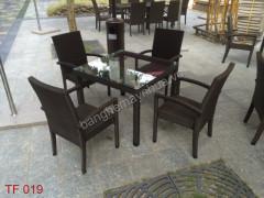 Ghế Mây Cafe TF 019