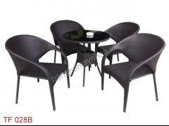 Bàn Ghế Mây Cafe TF 028