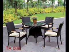 Bàn ghế ăn ngoài trời TA 009