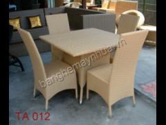 Bàn ghế ăn giả mây TA 012