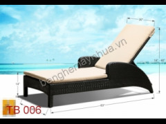 Giường bể bơi mây nhựa TB 006
