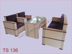 Sofa cafe mây nhựa TS 136